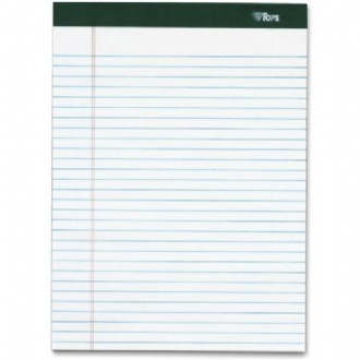 Double Docket Legal Pad, Narrow Rule, White, 100 SH/PD, 4 PD/PK