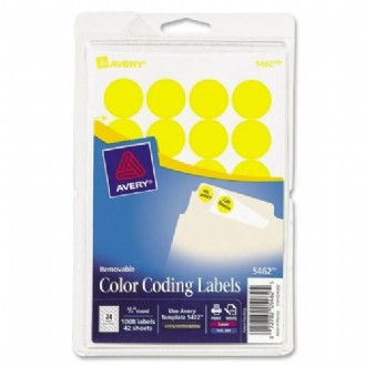 Avery Custom Print Round Color-Coding Labels