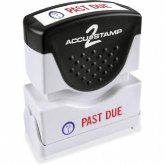 2-color PAST DUE Message Stamp