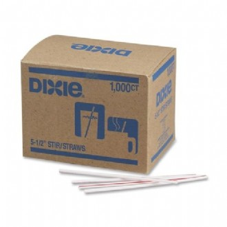 Dixie Plastic Red Striped Stir Stick