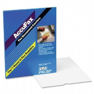 AccuFax PM Clear Top with White Backing Sheet Protector