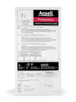 ANSELL RADIATION ATTENUATION GLOVES
