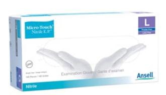 ANSELL MICRO-TOUCH  NITRILE E.P. TEXTURED EXAMINATION GLOVES