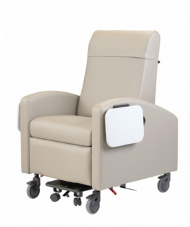 Inverness 24 Hour Treatment Recliner-15; Custom Vinyl-Dual Tables, Left & Right side swing-arm for modified entry and ease of cleaning