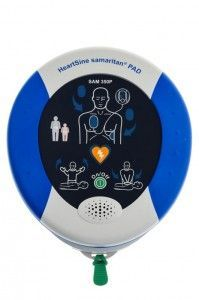 HeartSine Samaritan PAD Automated External Defibrillator (AED) The Samaritan PAD 350P. Battery and Electrode Pads are Incorporated in the Innovative Pad-Pak. 8 yr warranty