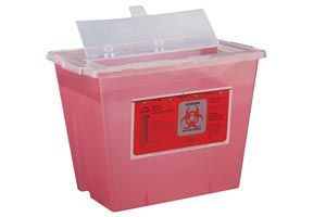 BEMIS  	Sharps Container, 2 Gal, Translucent Red