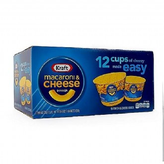 Kraft® Easy Mac® Cups, 2.05 oz. cups, 12/Ct