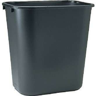 Brighton Professional™ Soft Molded Wastebasket, 7 Gallons, Black, 15