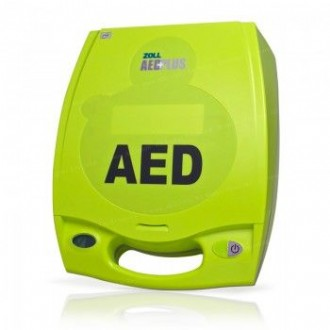 Refurbished Zoll AED Plus. Includes Device, Adult Electrodes, New Batteries, and 1 Year Warranty